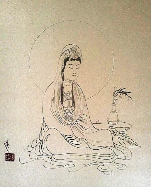 Kuan Yin 047, gemalt von SH Karmapa