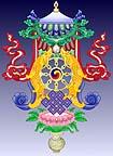 Tibetische Glücks-Symbole von http://www.fpmt-osel.org/gallery/index.htm
